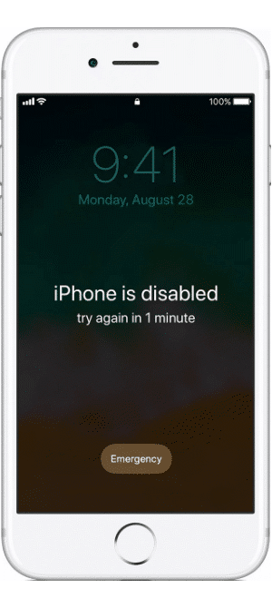 iOS 11 iPhone disabled forgot passcode