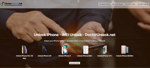 DoctorUnlock iPhone Unlock Webpage