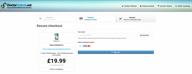 doctorunlock payment page