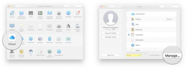 Mac iCloud backups