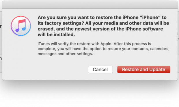 recovery mode restore iTunes