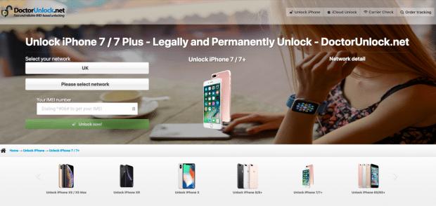 DoctorUnlock iPhone 7 Unlock