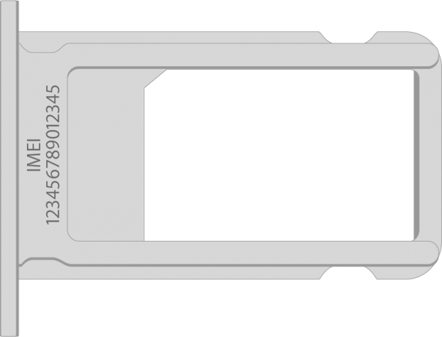 IMEI. on an iPhone SIM card tray